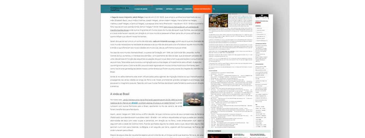 Blog pessoal – Segmento Genealogia